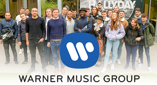 Visite de la maison de disque WARNER MUSIC GROUP